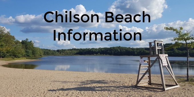 Chilson Beach water quality tested weekly