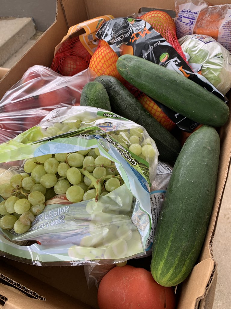 We have 50 more produce boxes. We are located at 613 10th Street. We will be here until we run out.