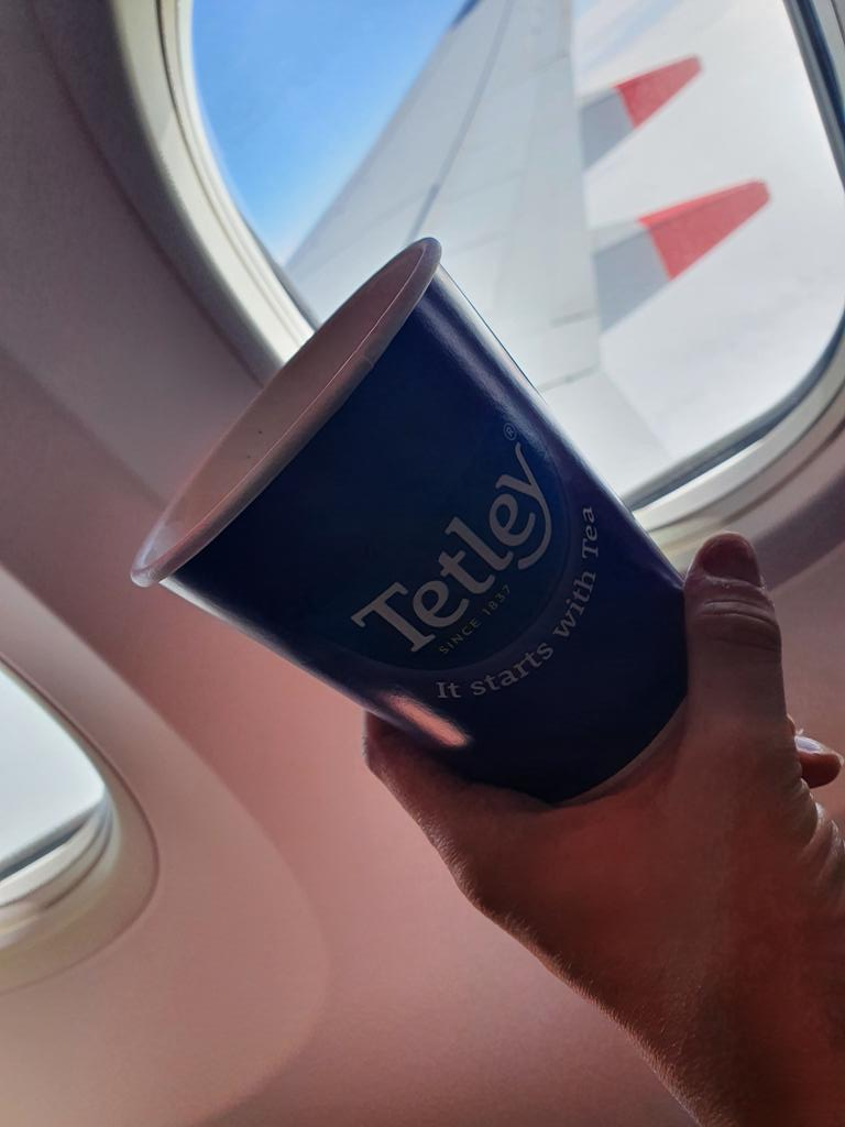 @tetleyuk #ItStartsWithTea  on the flight from #Manchester to #kos #greece ✈   We are off - last minute well needed get away ! https://t.co/ESVCsfHA4Q