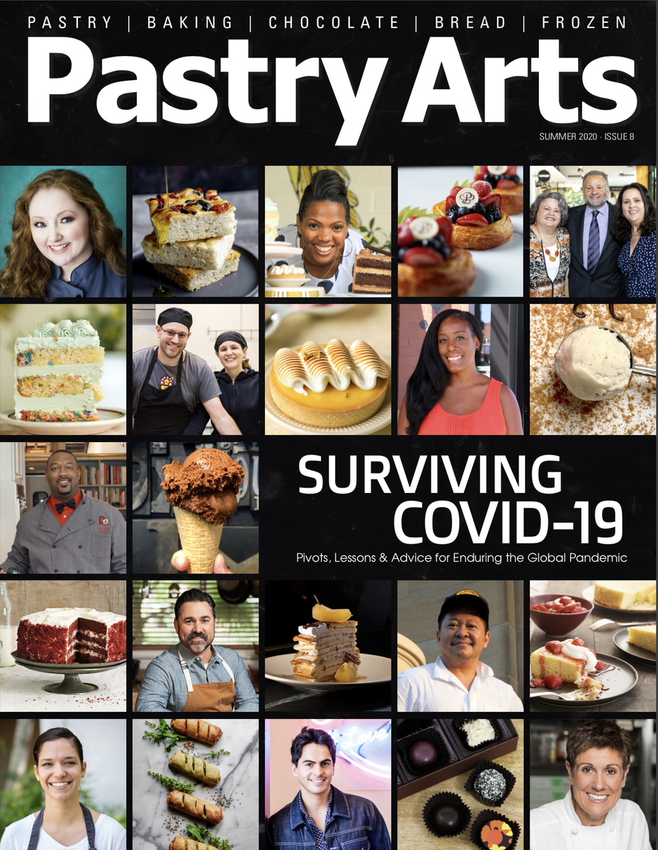 """""""We have to share both difficult lessons learned and advice for others to find success during the global pandemic"""" I am honored to be a part @pastryartsmag sharing the inspiring stories of pastry chefs far and wide and how we have all navigated these uncertain times! https://t.co/cDtwDVXpSa"""