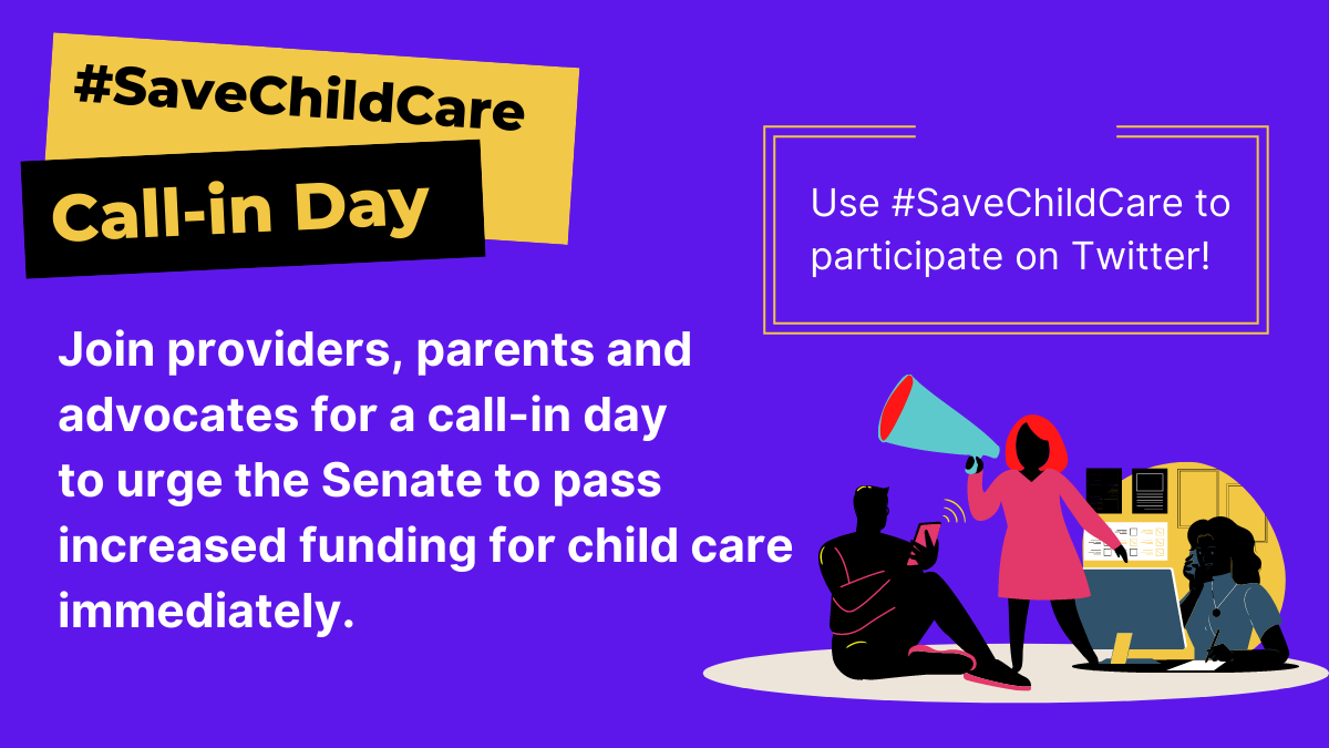 Join providers, parents, advocates and allies Thursday, July 16th as we call on Senators to #SaveChildCare and pass legislation with at least $50B in funding for the industry NOW! #theirfuturefirst https://t.co/IP54tPG1IW