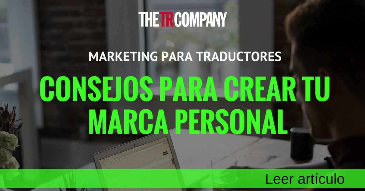 🗣 #Marketing y #MarcaPersonal para #Traductores: https://t.co/9oi1PXSxxO ... # xl8 # t9n https://t.co/BVpQGdcRKL