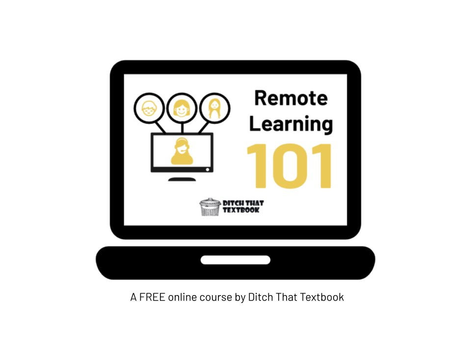 The FREE Remote Learning 101 online course!!  👉14 modules 👉2.5+ hours of video 👉Downloadable planning guides 👉Lifetime access 👉Forum for sharing ideas  Enroll for free: https://t.co/5R2wMNK7w9 #DitchBook https://t.co/VFhWbvCQ4x
