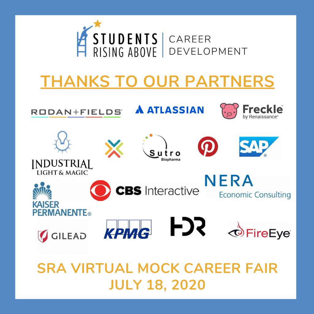 Thank you to our incredible corporate partners who are joining our Virtual Mock Career Fair on Saturday July 18th. You are positively impacting the career paths and opportunities for our youth as you welcome them as the next generation of diverse leaders! https://t.co/vIbcHZXxRQ