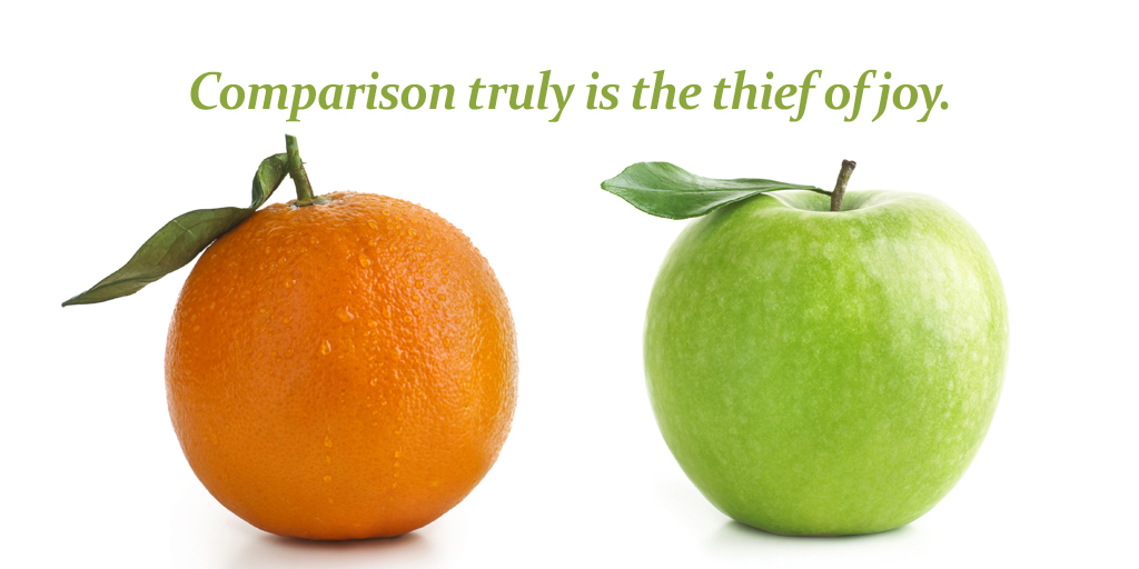 Comparison truly is the thief of joy. #quote #ThursdayThoughts