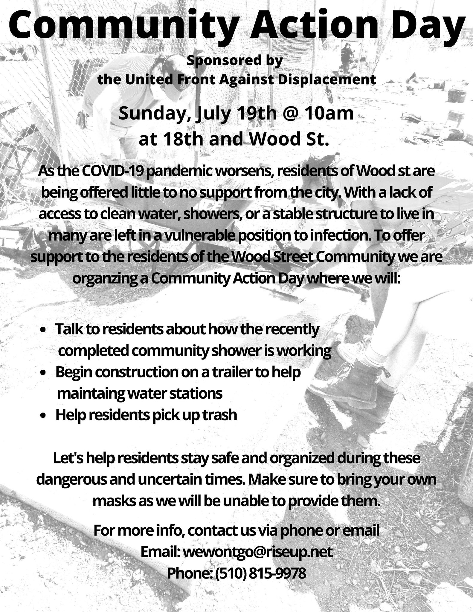 Community Action Day - Wood St. Homeless Community