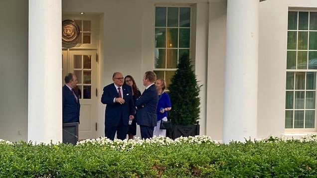 Rudy Giuliani is at the White House tonight.