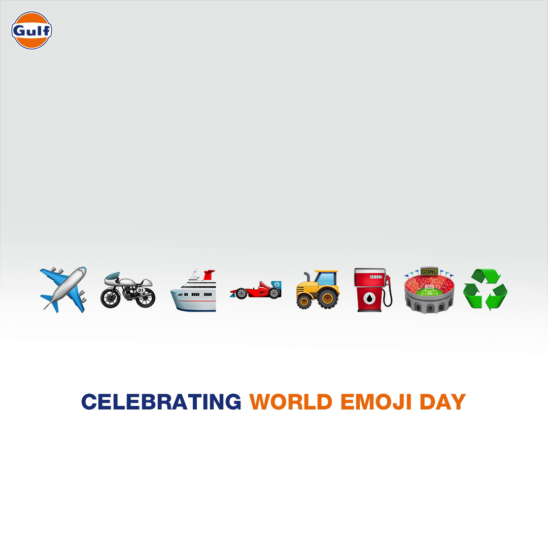 Can you guess which all businesses we're in and the partnerships we have through these emojis? Comment below.  #GulfOilInternational #WorldEmojiDay https://t.co/zWzYIXEA9G