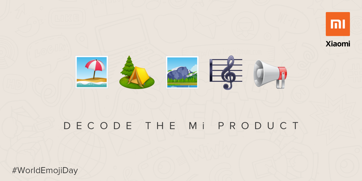 It's 🌏🤩🗓️. #WorldEmojiDay  Sharing some of our product names written in the emoji language.  All the emoji fans will definitely get it.😎  Drop a few emojies in comments and let people guess the Mi Product. https://t.co/OCm5ikt0UA