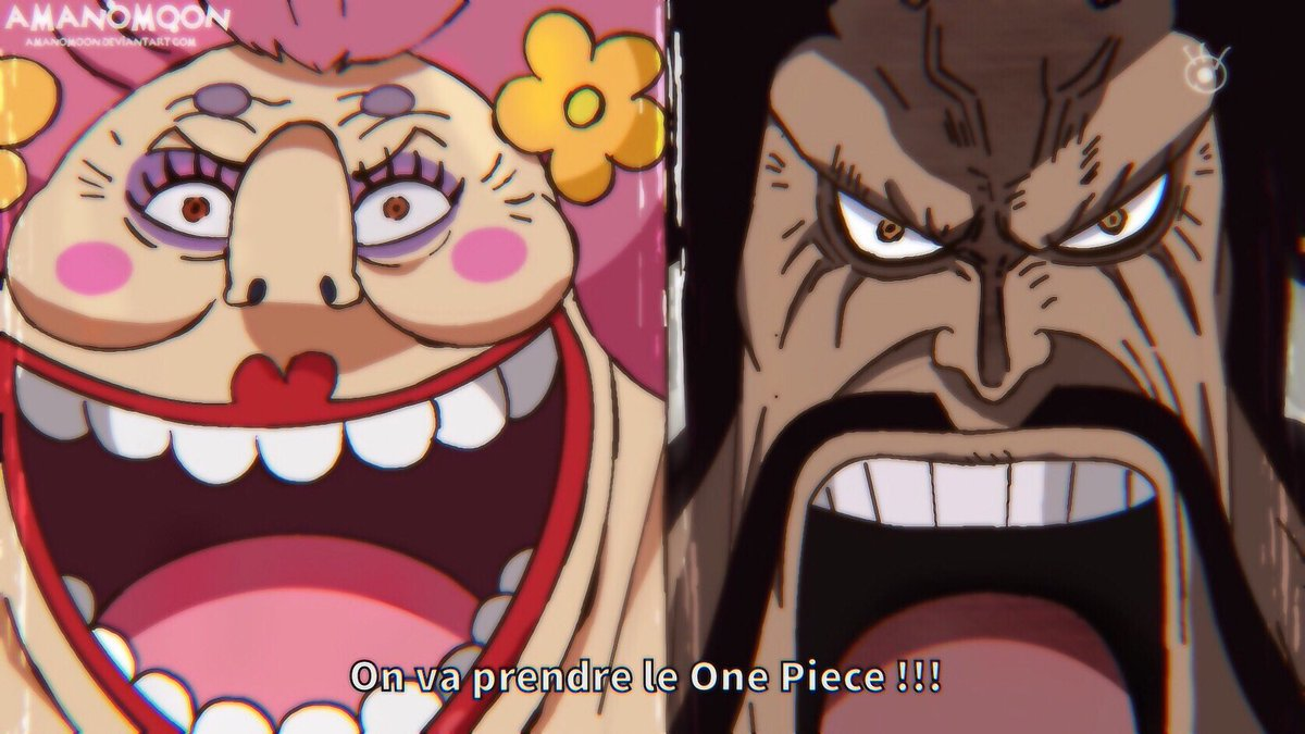 One Piece Chapter 985 Kaido and Big Mom ! Anime Style   • RT if you want to support me thanks  • https://t.co/hyej7zy39w             #ワンピース  #ビッグ・マム #ワノ国 #ヤマト #百獣のカイドウ #黒炭オロチ https://t.co/v4Qjr9Qrjt