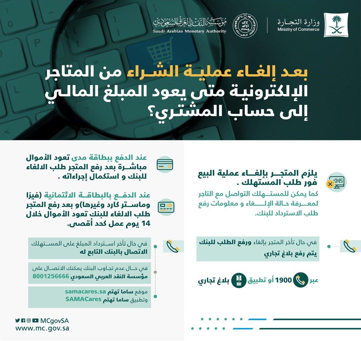 عبدالله الغفيص On Twitter متى يرجع المبلغ في حسابك اذا ألغيت طلب من المتاجر الإلكترونية إذا كان الدفع ببطاقة مدى يعود المبلغ مباشرة إذا كان الدفع ببطاقة فيزا ماستركارد