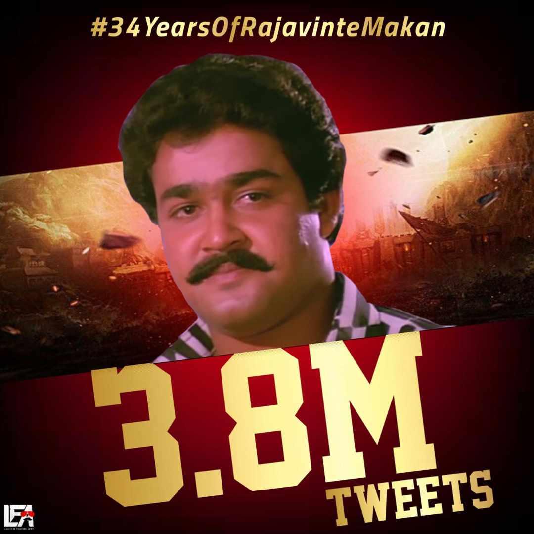 ഇവിടെ ആർക്കു വേണമെങ്കിലും മത്സരിക്കാം.. രണ്ടാംസ്ഥാനത്തിന് വേണ്ടി മാത്രം   Fastest 3.8M Tweet #34YearsOfRajavinteMakan #Drishyam2pic.twitter.com/sLjPsEamz8