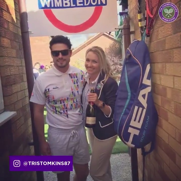 You certainly played your part ☺️  #WimbledonRecreated https://t.co/fHRSLoLu8J