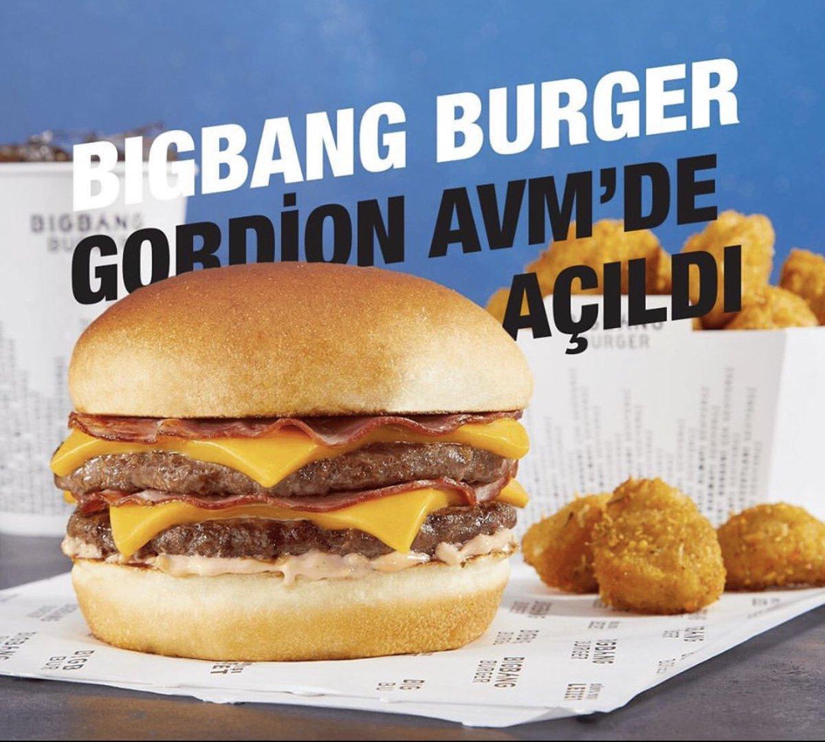 En lezzetli hamburgerlerin adresi Big Bang Burger Gordion Avm'de!🍔 #gordionlife #gordiongibisiyok https://t.co/Og5aBuKLtJ