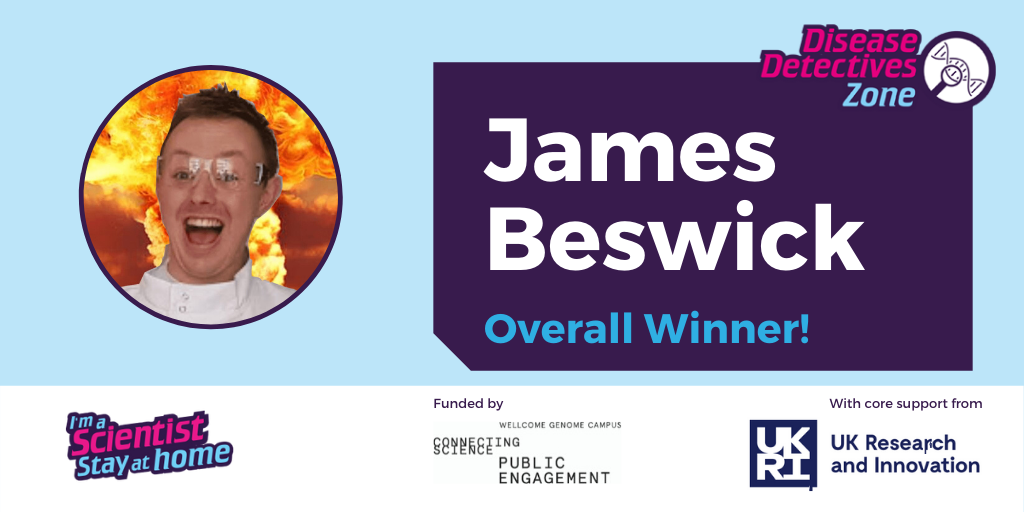 @Johnson_Matthey @TiffanyGKChan @UniofOxford @bp_UK The winner in the @WGCengage Disease Detectives Zone is @jamesbeswick_ from @OfficialUoM https://t.co/QZgYd5IoJR