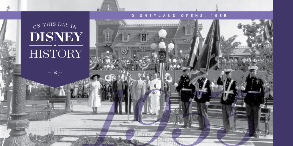 Today in Disney History: Disneyland opened on this day in 1955: bit.ly/30j0Gpr