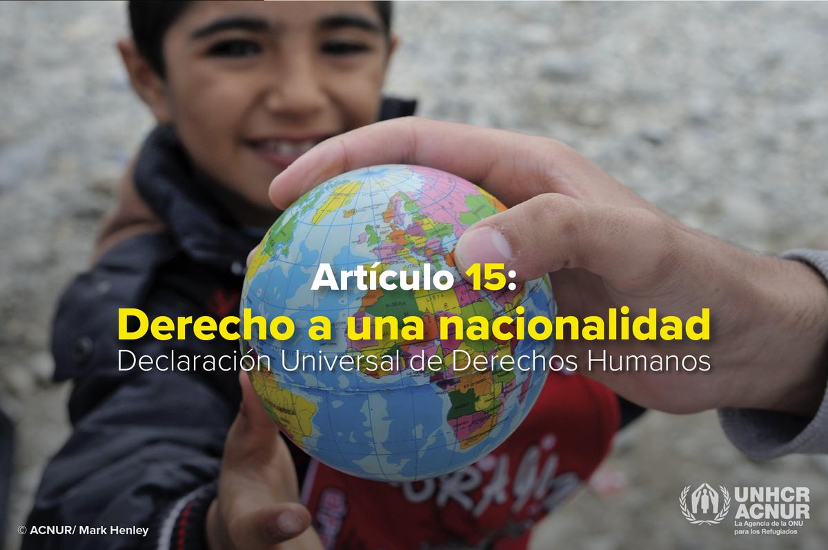 Tener una nacionalidad. No es un privilegio. Es un derecho humano. #IBelong #YoPertenezco https://t.co/tPi4beBHrJ