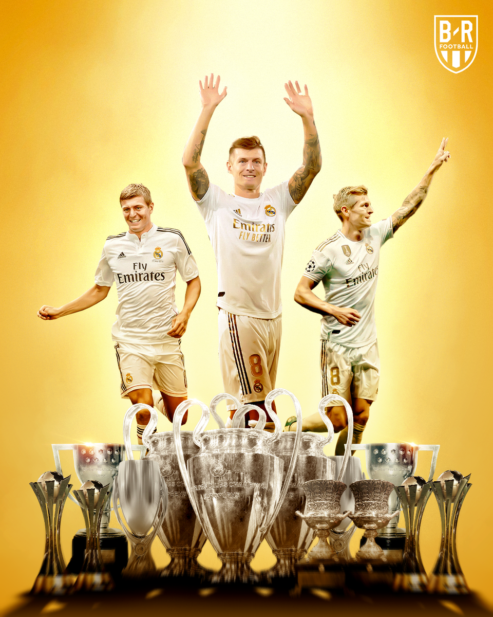 Six years since Toni Kroos joined Real Madrid.   Trophies followed 🏆 https://t.co/vKNwM3L08c
