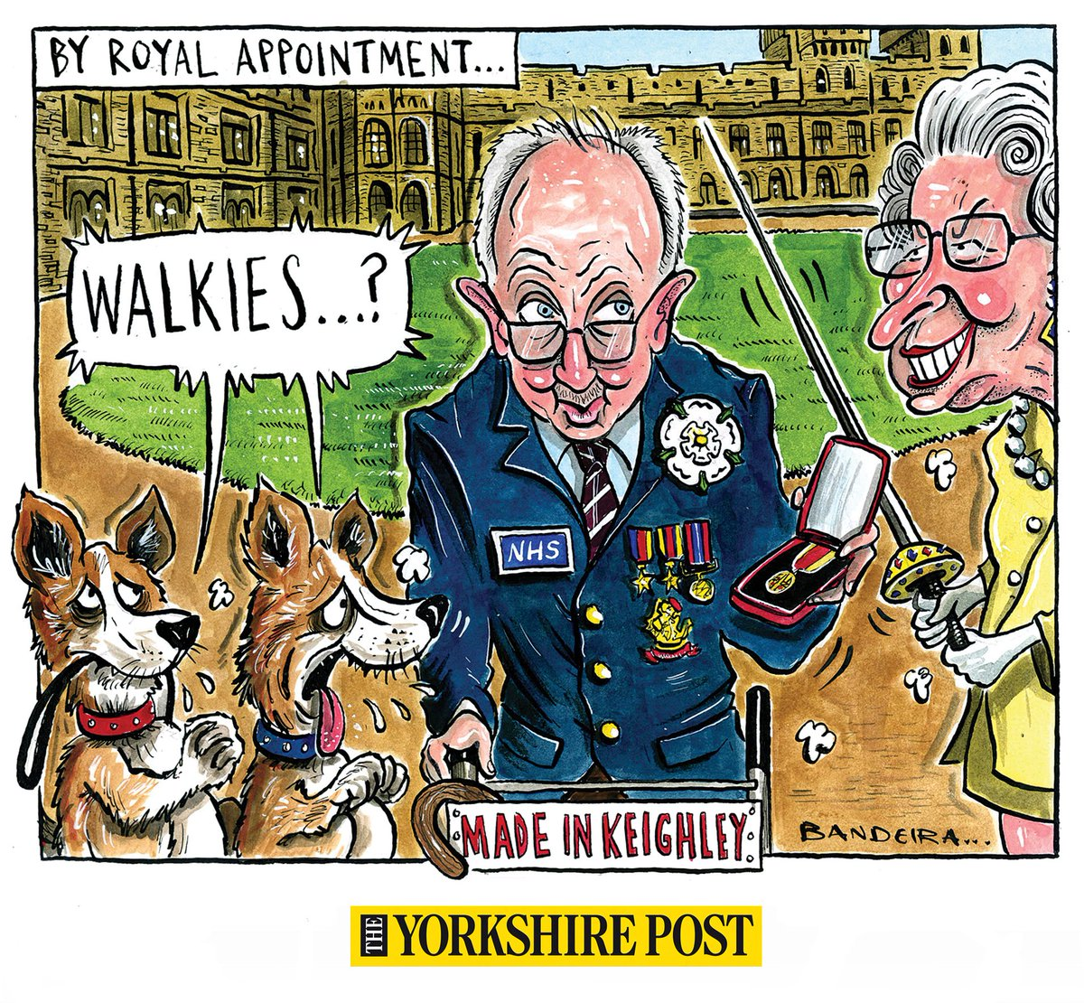 ARISE SIR TOM! Tomorrows @yorkshirepost cartoon given early release! Exceptional circumstances 😉