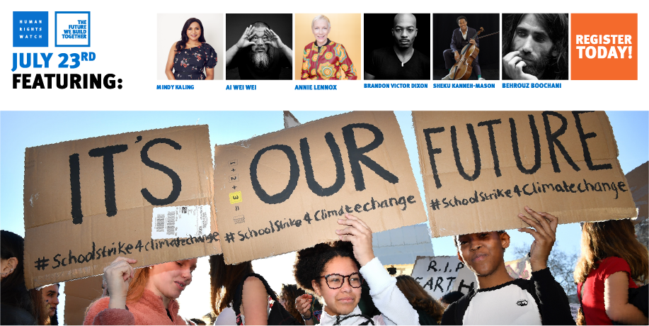 🔴 We're watching @HRW Broadcast The #FutureWeBuild Together with Special Guests from around the world 🌎 'We never know what the future holds. But we can build one together' Support #HumanRights🕊️ #Justice ⚖️ #Peace☮️ #Solidarity🙌 https://t.co/NkzMTptNBA