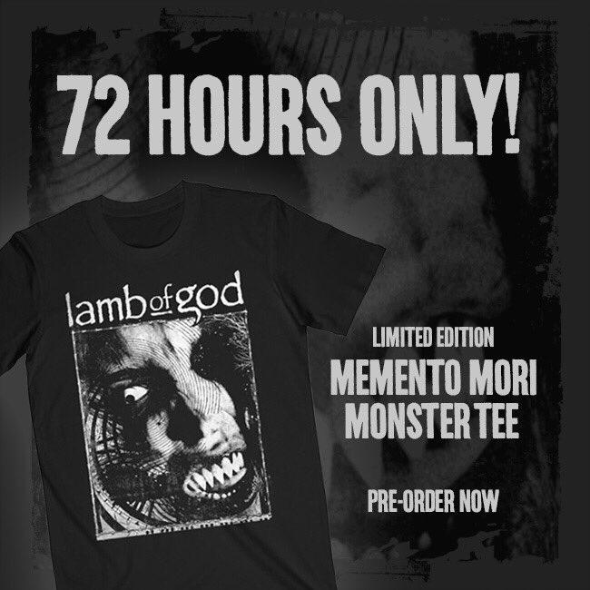 "You've got 72 hours to get our new ""Memento Mori"" Monster Tee. Pre-order here: https://t.co/P8A3fZigk0 https://t.co/sc50W9cvGR"