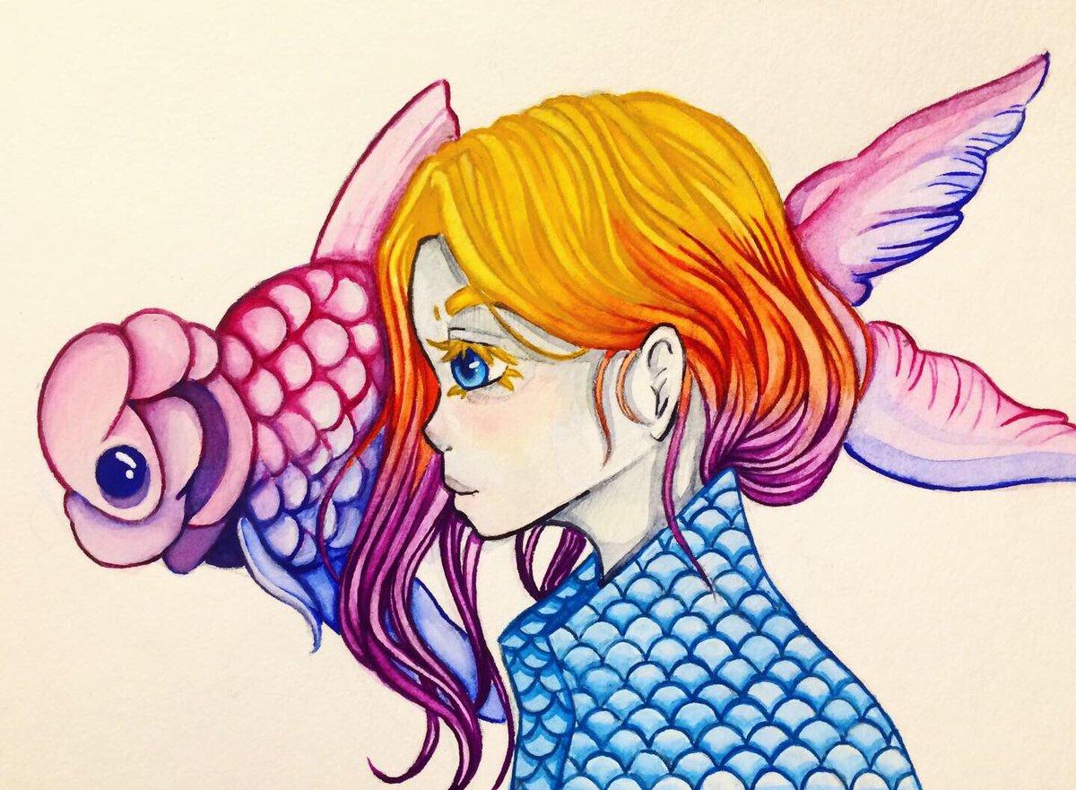 #myart #MyArtwork #Watercolor #watercolorpainting #watercolour #painting #art #drawing #sketch #fish https://t.co/JQqqWg0nDv
