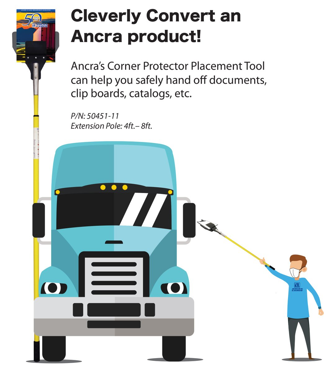We've been thinking up some clever ways to use our corner protector placement tool. Easily hand off documents at a safe distance to drivers or customers. https://t.co/NRKyBooPcK