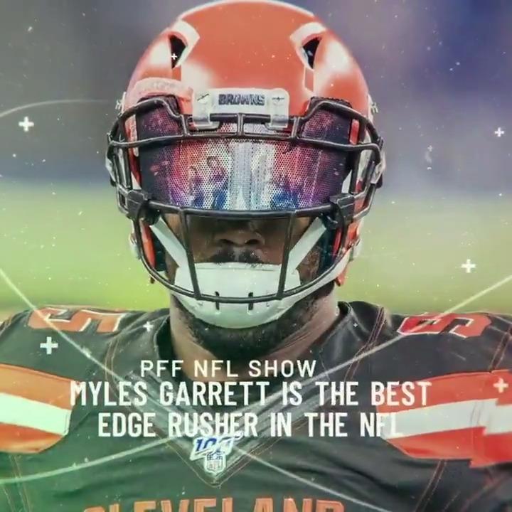 Myles Garrett through 11 weeks last season: ➤ Pass rush grade: 91.6 (1st) ➤ Pass Rush Win Rate: 25.0% (3rd)  The #Browns just locked up the best pass-rusher in the NFL 💰