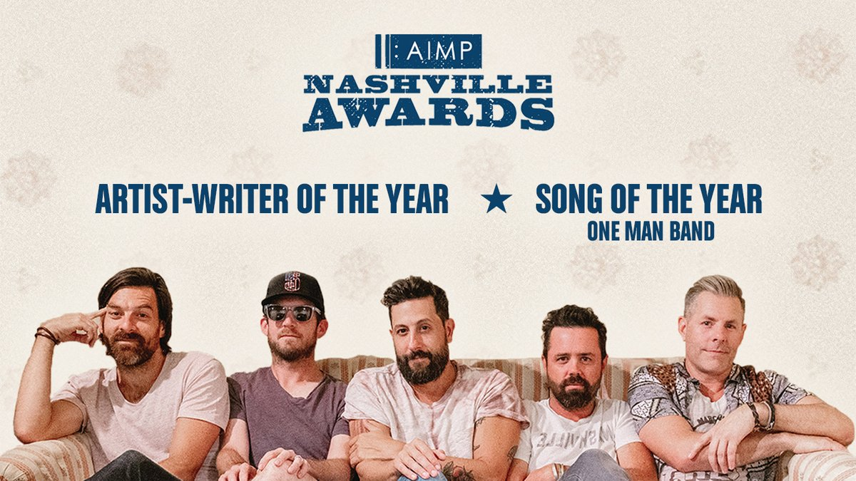 Cool surprise on a Friday. Thank you @aimpnashville for the nominations. #onemanband #weareolddominion https://t.co/s6Kk2GnWfU