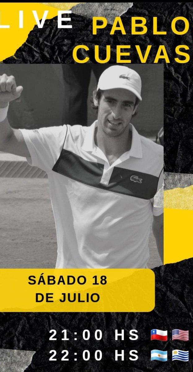 Este sabado 18 de julio a las 22hs Argentina Uruguay 21hs chile voy a tener en mi Instagram live @elpulgadelapena a uno de los mejores reveses a una mano de la actualidad, gladiador nato y talentoso como pocos, @PabloCuevas22 https://t.co/8F8OFkCs4m