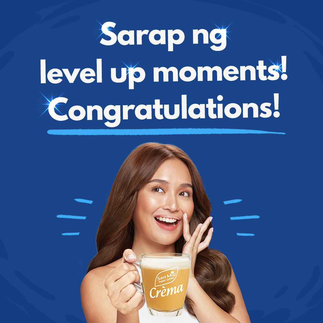Congratulations sa mga lucky winners ng level up story promo! Each of you will receive the San Mig Crèma White Coffee mug signed by @bernardokath plus 1 month supply of San Mig Crèma White Coffee!