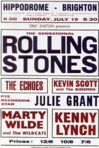 #OTD Jul19,1964 The #RollingStones appear at the #Hippodrome Brighton with The #Echoes, #KevinScott adn the #Kinsmen, Pye Recording Star #JulieGrant, #MartyWilde and the #Wildcats, #KennyLynch https://t.co/aWOYIvrHON