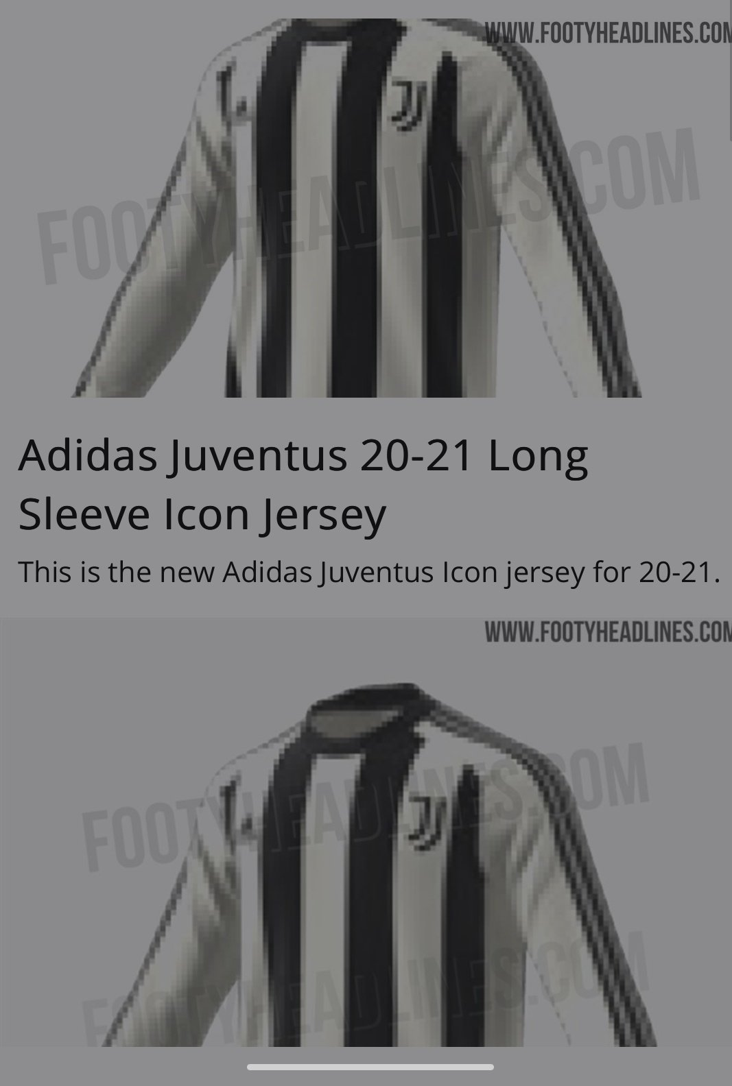 Juvefc On Twitter Adidas Wil Release A Classic Long Sleeve Icon Jersey For Juventus Footyheadlines
