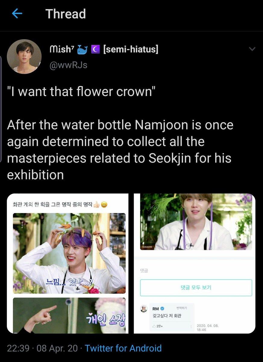 Á—°êµsh Ia On Twitter When He Named His Bonsai Tree Jjin Jjin Which Is Also His Nickname For Seokjin