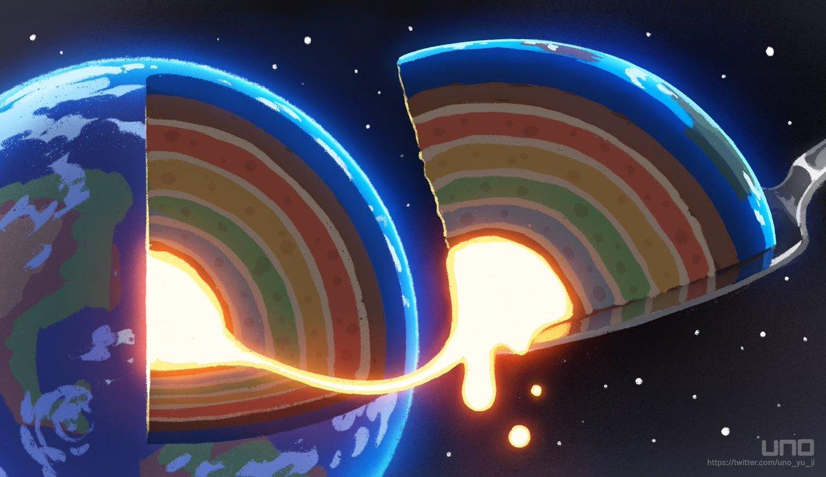 虹のマントルケーキ