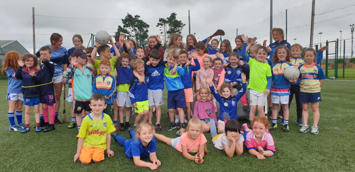 Some pictures from last weeks Dougies summer camp, great fun had by all despite the weather some days.   ⚪️🔵proud of our place 🔵⚪️ #ourhometown #tramore #GAA https://t.co/LmuB7thpTt