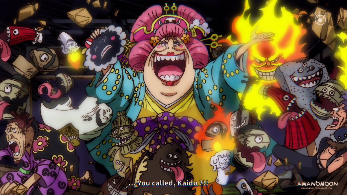 One Piece Chapter 985 O-Lin Big Mom and Homies Yokai! Anime Style   • RT if you want to support me thanks  • https://t.co/hyej7zy39w             #ワンピース  #ビッグ・マム #ワノ国 #ヤマト #百獣のカイドウ #黒炭オロチ https://t.co/UnBSvFSZio