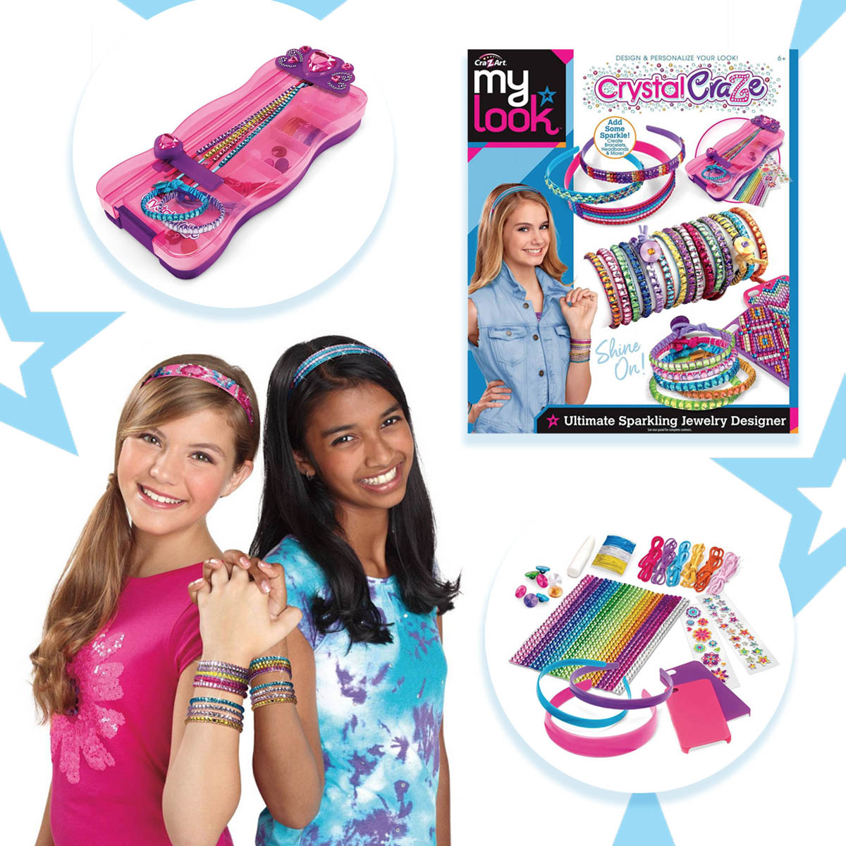 Cra Z Art On Twitter Only At Target The My Look Crystal Craze Ultimate Sparkling Jewelry Designer Has Glitter Galore Create Dazzling Phone Cases Headbands And More Includes Everything You Need To Be The Ultimate