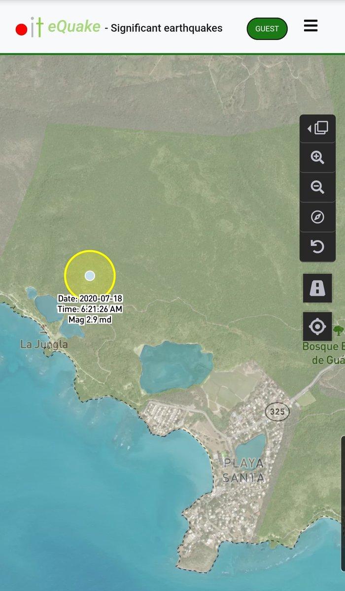 Informe de actividad sísmica significativa para hoy 200718 845am.  Hasta el momento registramos 1 evento en @GuanicaOficial.  En tiempos de crisis estamos #ContigoTodoElCamino @adamonzon @TemblorPRpic.twitter.com/UVr9yVddT5