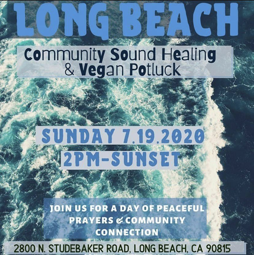 Lbc & surrounding come thru tomorrow for a collective healing gathering #communityhealing pic.twitter.com/6ur95Q73NN