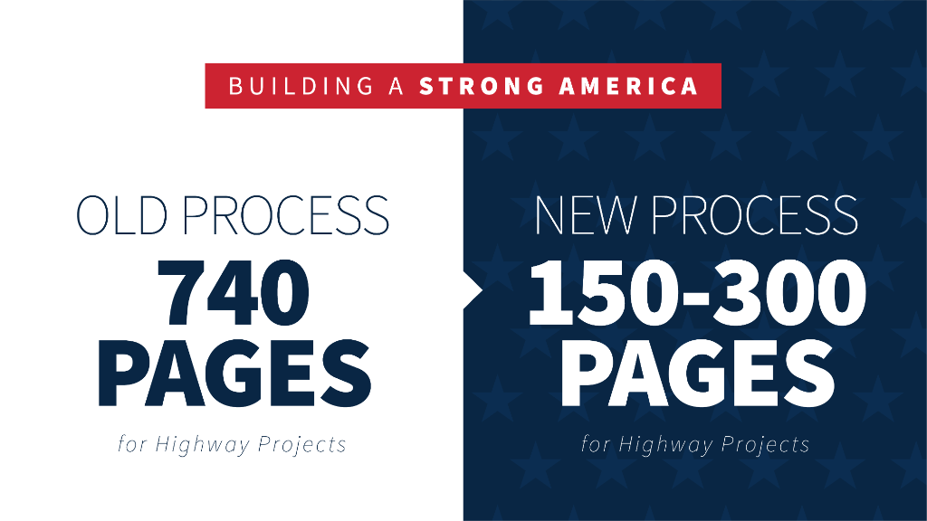 When government adds years of red tape to new construction and repair projects, every American's quality of life and safety is put at risk. Under President @realDonaldTrump, common-sense reform is clearing the way for safer, stronger American infrastructure!