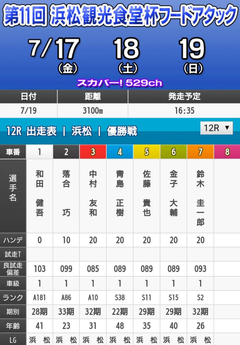 浜松 オート レース 出走 表