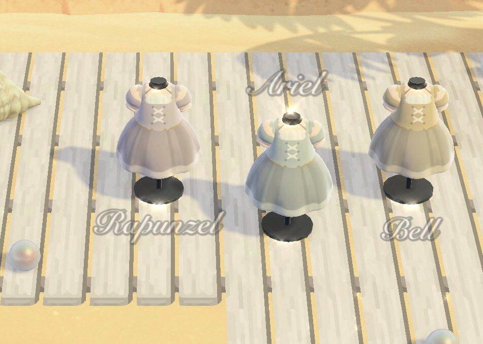 ✦ Disney Princess ✦~ 水着のマイデザイン ~ラプンツェル・アリエル・ベルをイメージした水着風ワンピースのマイデザインです♡ ((イメージ))作者ID MA-6850-7240-6065#あつまれどうぶつの森 #あつ森 #どうぶつの森 #マイデザ #マイデザイン配布 #AnimalCrossing #ACNH