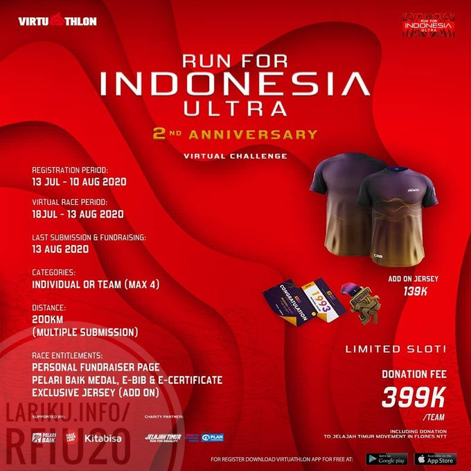 Run For Indonesia Ultra – 2nd Anniversary Virtual Challenge • 2020