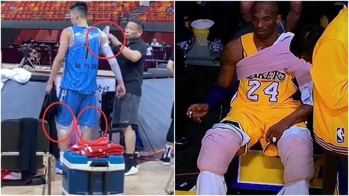 【影片】真的太拼了!書豪帶傷出戰,身上纏滿冰袋太讓人感動,這一幕像極了Kobe!