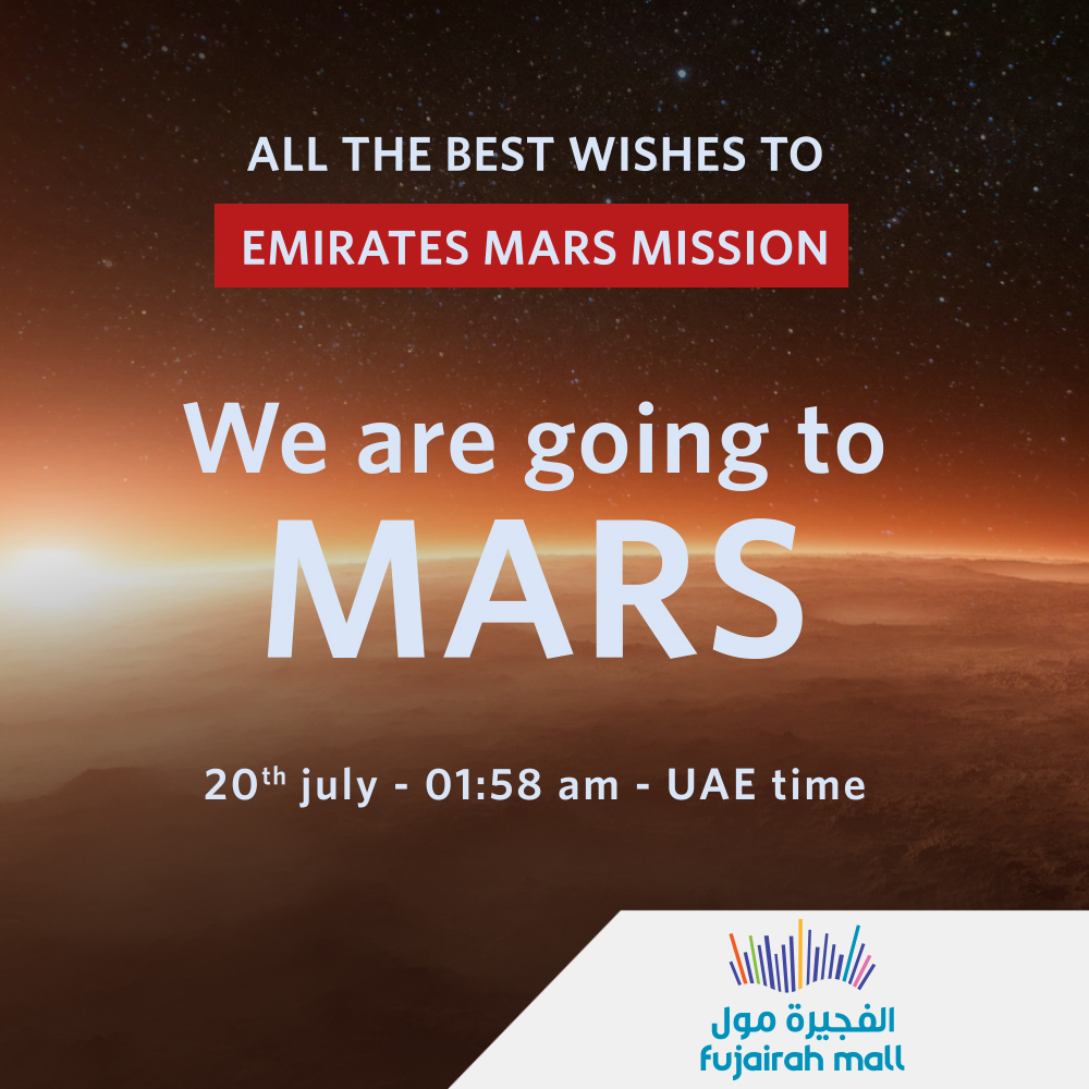All the best wishes to Emirates Mars Mission... #Emirates_mars_mission #Fujairah_mall #العرب_إلى_المريخ https://t.co/zRHMkUTMk3