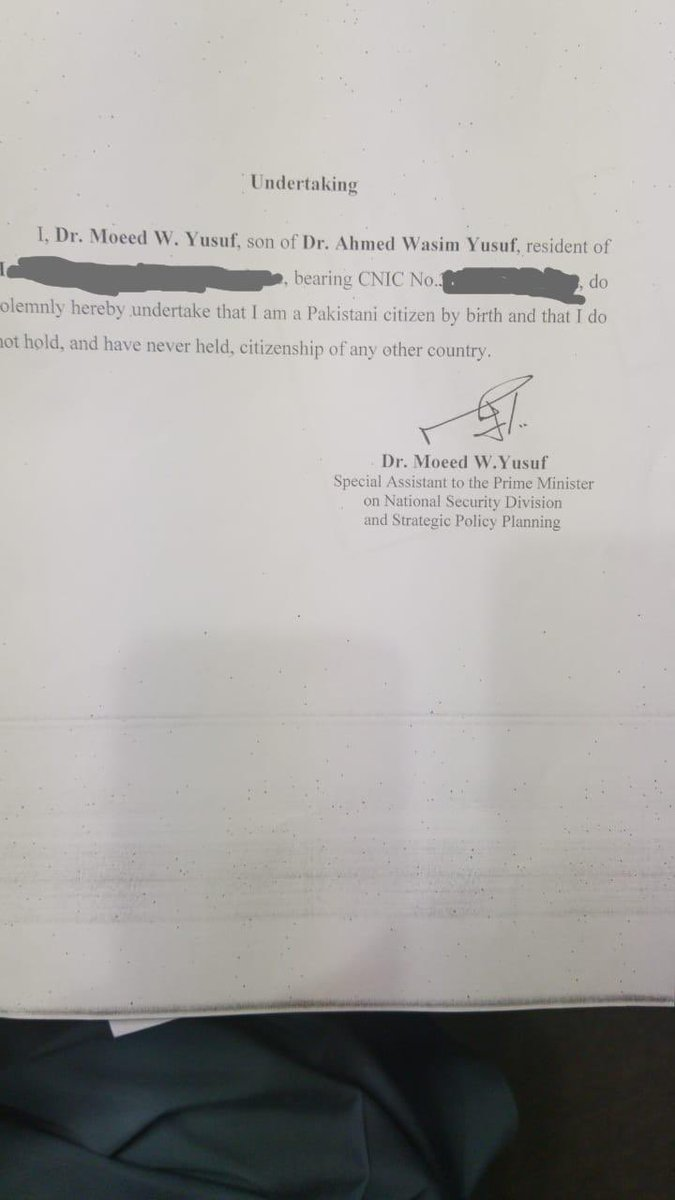 Contrary to the canard being spread about me, I only hold citizenship of ONE country and that is Pakistan. Here is the affidavit I had previously submitted to the government. https://t.co/kRpN0s7YjD