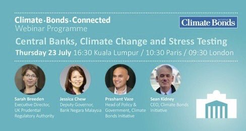 Webinar: Central banks & climate #risk. What are the implications of stress tests for banks & insurers? @NGFS_ members Sarah Breeden @bankofengland, Jessica Chew, @BNM_official join Prashant Vaze from @ClimateBonds. Thursday 23rd July. https://zoom.us/webinar/register/WN_-kp_Z0pRSLm8yNjhy7XQOQ… #bnm #bnmtaxonomypic.twitter.com/XvBXSeOzm0
