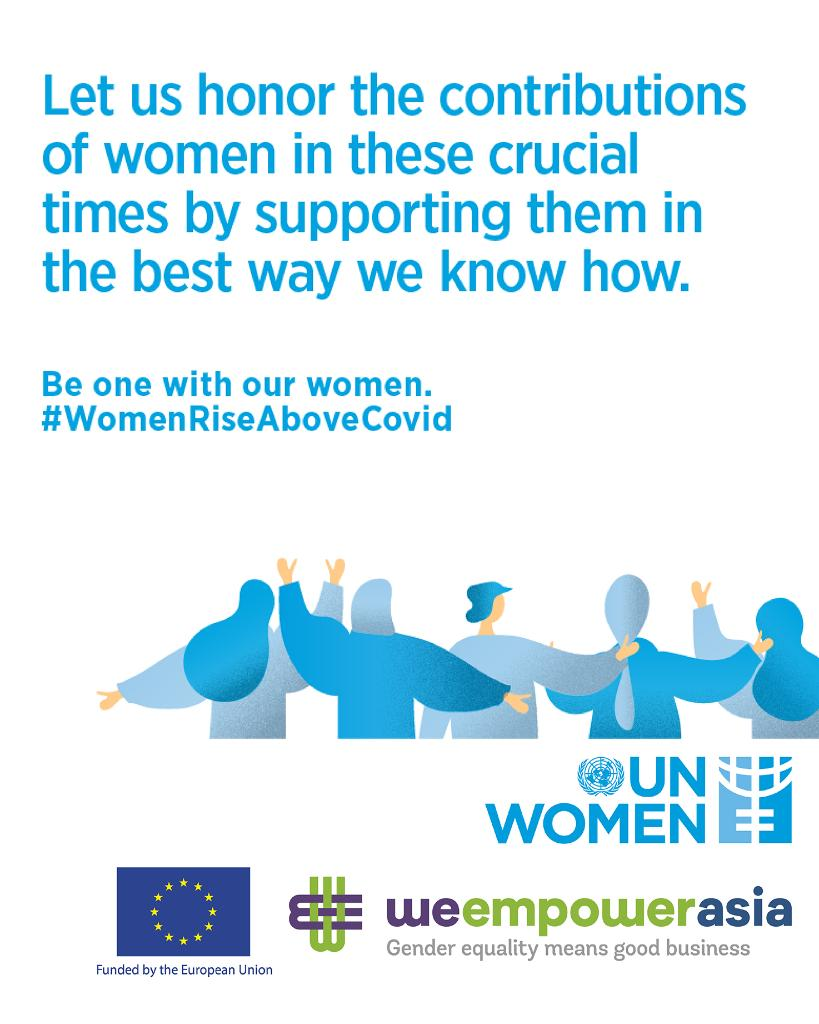 We're letting global aid organisations utilise our social media channels to share messages around health and safety during the COVID-19 pandemic.  Today we support the work of UN Women.  Stay tuned and stay safe. https://t.co/SgeOdyKQa5 #WomenRiseAboveCovid https://t.co/1KnK1mvz5y