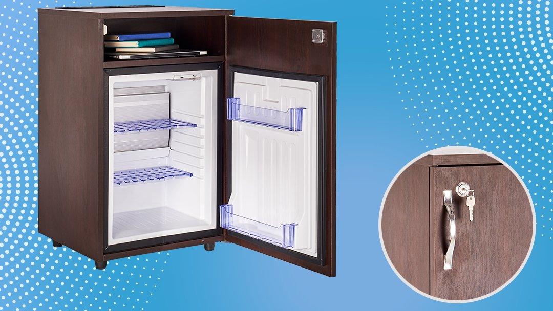 Absorption Cooling System, Reversable door, blue transparent shelves, environment friendly. #hotelminibar #hotels https://t.co/UTw0oghc3K